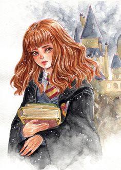 Resultat d'imatges de hermione granger dibujo