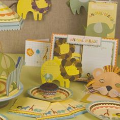 The Party Cupboard : Animal Parade Party Supplies : Animal Parade Birthday Party : Meri Meri Party Supplies