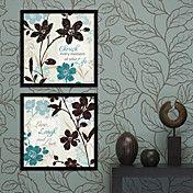 Love Leaves Floral Framed Canvas Print Set of... – AUD $ 106.24