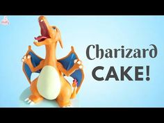 Would it even be a lovely baker video if I didnt come out late?:D Thanks so much for watching, I hope you enjoy this Charizard cake! What did you think of th. Pokemon Party, Pokemon Birthday, Play Pokemon, Pokemon Stuff, Boy Birthday Parties, Baby Birthday, Pikachu Cake, Pokemon Charizard, Blue Food Coloring