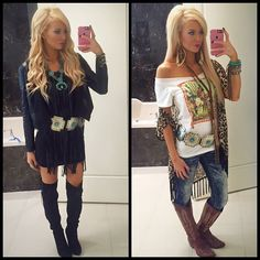 """""""Kelsey Johnson owner of @thelacecactus #thebleacherbabe #nfrfashion #nfrstyle"""""""