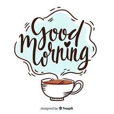 Hand lettering drink coffee make stuff quote Good Morning Letter, Good Morning Good Night, Good Morning Wishes, Morning Messages, Good Morning Images, Monday Morning Quotes, Doodle Quotes, Hand Lettering Quotes, Lettering Ideas
