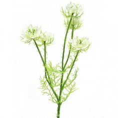 This Artificial Nigella flower spray with beautiful cream flowers and soft foliage measures 57cm from tall.