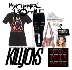 """""""mcr"""" by choclater23 on Polyvore featuring Calle, Converse, Billabong, Beats by Dr. Dre, Wet Seal, Cartier, Maybelline and Venom"""