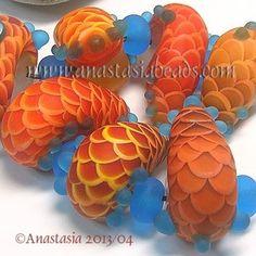 "Anastasia Lampwork Beads 7 ""Scale Snails"" SRA | eBay  http://www.ebay.com/itm/261196292432?ssPageName=STRK:MESELX:IT&_trksid=p3984.m1555.l2649"