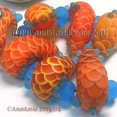 ANASTASIA-lampwork-beads-7-SCALE-SNAILS-SRA