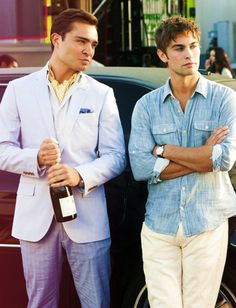 Chuck Bass + Nate Archibald; I wish all men dressed like this.