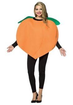 Adult Peach Costume Funny Adult Costumes, Cute Group Halloween Costumes, Theme Halloween, Halloween Dress, Halloween Outfits, Costumes Kids, Halloween 2017, Emoji Costume, Fruit Costumes