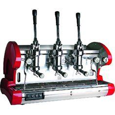 La Pavoni BAR L Commercial Espresso Machine - lever, 3G, red