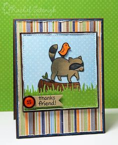 Lawn Fawn critters in the forest stamp