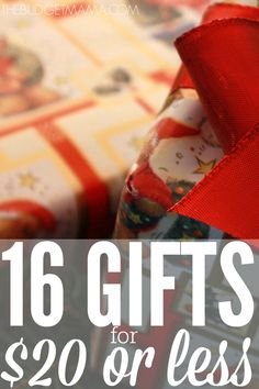 16 Gifts for $20 or Less. Stretch your holiday budget this year with this awesome roundup of gift ideas for the whole family!