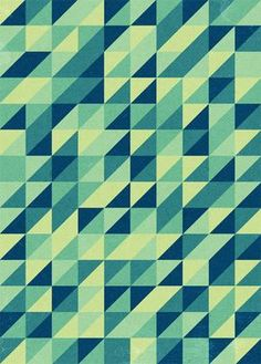 How to make these awesome retro triangular patterns we are seeing so much of these days.