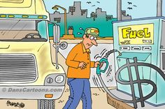 Trucker Trucking Cartoon 39    a Cartoon Image and funny joke in the genre of trucking. Images for license by Dan Rosandich