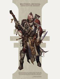 Grendal: Dark Heresy Warhammer 40k Assassin by David-Kegg on DeviantArt