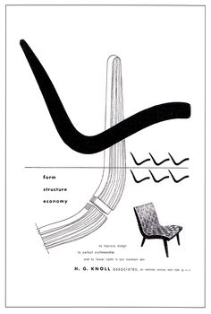 Knoll adverts by Alvin Lustig-