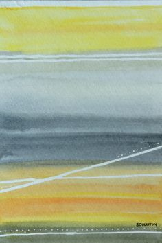 Modern Abstract Art Watercolors Paintings by sandraculliton, $24.00