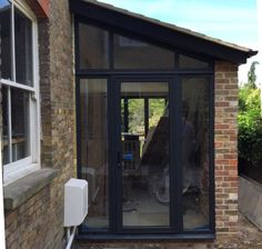 lean to side extension Garage Extension, Glass Extension, House Extension Design, House Design, Side Extension, Extension Ideas, Bungalow Extensions, House Extensions, House With Porch
