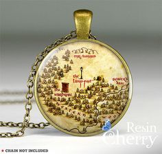 The Chronicles of Narnia map necklace