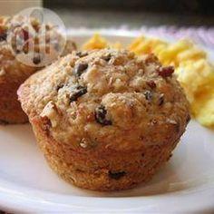 Muffins de avena con chips de chocolate @ allrecipes.com.mx