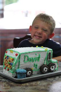 Working Mom Wonders: Garbage Truck Cake