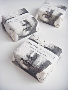Shea Butter Soap Madame Mysterio by sweetpetula on Etsy. Fornasetti? #packaging PD