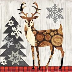 Norwegian Wood-Deer by Jennifer Brinley | Ruth Levison Design