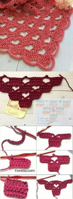Latest Totally Free how to crochet a triangle Tips 29 Magníficos Puntos Calados en Crochet Beau Crochet, Poncho Au Crochet, Free Crochet, Crochet Baby, Knit Crochet, Baby Knitting, Crochet Heart Blanket, Patron Crochet, Simple Crochet