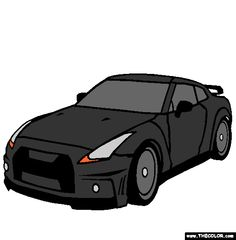 nissan gtr coloring page