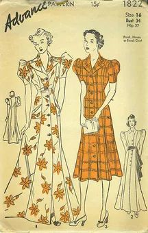 Advance 1822 - Vintage Sewing Patterns