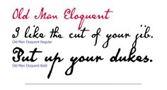 Old Man Eloquent from Three Islands Press