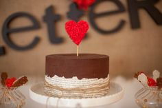Love Letters Dessert Table + Husband Birthday Party