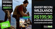 Tom Clancy's Ghost Recon: Wildlands é o primeiro jogo militar de tiro a ser ambientado em um mundo aberto vasto e dinâmico. Disponível para Playstation 4 e Xbox One. Garanta a pré-venda por apenas R$199,90 à vista em dinheiro ou em até 6x de R$41,60 no cartão. Previsão de entrega: 10 de Março  Rua Independência, 443 – São Leopoldo, RS Telefone: (51) 3037-6452 Whatsapp: (51) 986455457 #fashion #style #stylish #love #me #cute #photooftheday #nails #hair #beauty #beautiful #design #model #dress…
