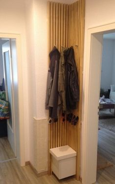 In this IKEA hack, a clever upcycle magically creates entry storage where there once was none. storage ideas diy ikea hacks 15 IKEA Hacks That Will Rescue Your Disorganized Entryway Ikea Wardrobe Storage, Diy Wardrobe, Ikea Storage, Storage Hacks, Entryway Storage, Storage Ideas, Corner Storage, Entryway Ideas, Hallway Ideas