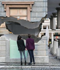 alex chinneck levitates covent garden's market building in london