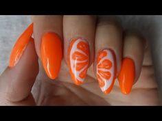 french orange pink designs red designs nail design nails Fruits nails - Orange - Owoce na paznokciach - Pomarańcza Fruit Nail Designs, Nail Art Designs, Pretty Nail Art, Cool Nail Art, Art Deco Nails, Fruit Nail Art, Nails For Kids, Orange Nails, Types Of Nails