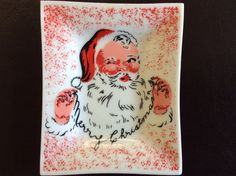 Mid Century Small Santa Dish / Retro Santa Dish by TillyFritz
