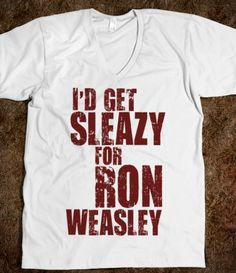 hp: i'd get sleazy for ron weasley [red]. I would so buy this in tank form