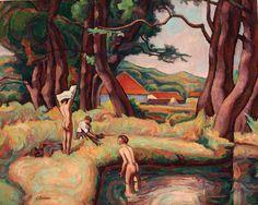 Camil Ressu 1880-1962 - Boys Bathing