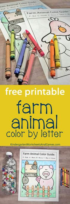 Farm Animal ABC Search with FREE Color by Letters Activity - this is such a fun activity for preschool, prek, kindergarten to practice alphabet letters and refine motor skills while having fun learning.