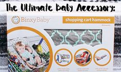 The Ultimate Baby Accessory: Binxy Baby's Shopping Cart Hammock- baby shower gift - must have baby accessory- best baby shower gift - baby registry - unique baby shoer gift- genera neutral baby gift - Oh Happy Play