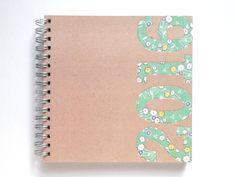 2016 Weekly Planner/Diary - Handmade by Miss Meg Shop #2016 #twentysixteen #planner #diary #stationery #handmade #etsy #missmegshop #fabric #flower #green #recycled #paper #kraft #organise #organize #newyear #newyearsresolutions #goals