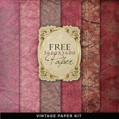 Freebies Kit of Vintage Style Paper