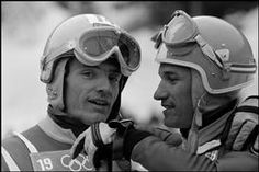CHAMROUSSE - Jean-Claude Killy JO 1968 : Les skieurs français Jean-Claude KILLY et Guy PERILLAT à Chamrousse.