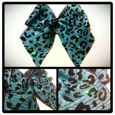 3in. Sequin Cheetah Cheer Bow on Etsy, $10.00