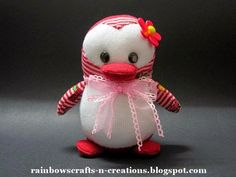 Rainbow's Crafts and Creations: How to make a sock penguin