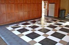Diamond Grid-Loc Tiles | Snap Together Garage Floor Tiles I Free Shipping #rubberfloor50