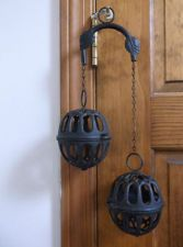 cast iron string holders...I love these things!