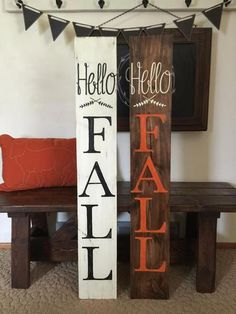 Hello Fall Outdoor/Indoor Wood Sign Hello Fall Outdoor/Indoor Wood Sign The post Hello Fall Outdoor/Indoor Wood Sign appeared first on Wood Diy. Fall Pallet Signs, Fall Wood Signs, Diy Wood Signs, Fall Signs, Painted Wood Signs, Do It Yourself Decoration, Used Outdoor Furniture, Rustic Furniture, Front Porch Signs