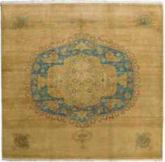 Make a statement with the pronounced medallion on this hand knotted rug. Braided Rugs, Hand Knotted Rugs, Woven Rug, Affordable Rugs, Interior Rugs, Square Rugs, Indian Rugs, Geometric Rug, Magic Carpet