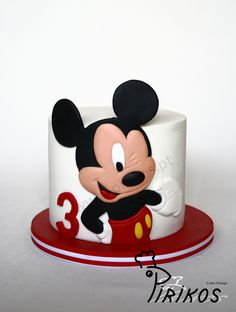 Just a simple cake for little 3 years old mickey...